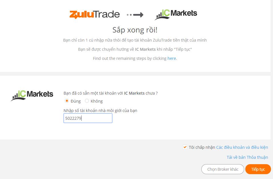 Hướng dẫn đăng ký tài khoản ZuluTrade
