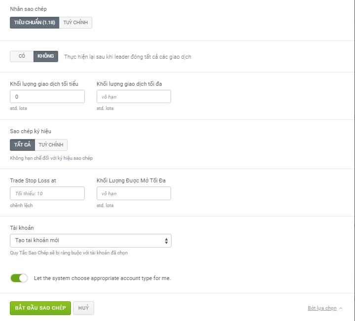 Hướng dẫn cách sao chép giao dịch với Share4you