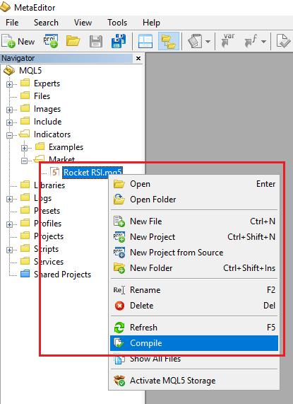 Giới thiệu chỉ báo RocketRSI trên MQL5 để tìm tín hiệu mua bán