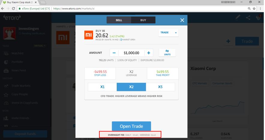 Tìm hiểu về chi phí nạp rút tiền và chi phí của từng giao dịch trên eToro