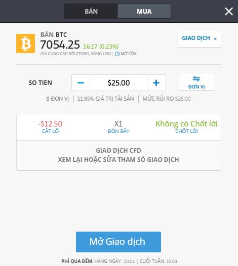 Các thao tác bán Bitcoin trên sàn giao dịch tiền điện tử