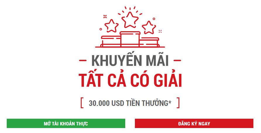 """XM dàng tặng riêng cho khách hàng Việt Nam khuyến mại """"TẤT CẢ CÓ GIẢI"""", tổng giá trị giải thưởng lên tới $30.000"""