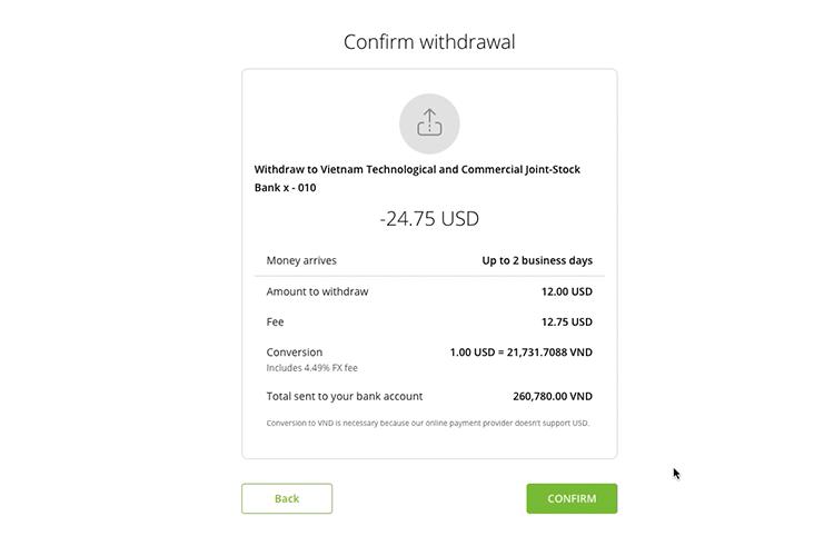 Hướng dẫn rút tiền từ Neteller về tài khoản ngân hàng