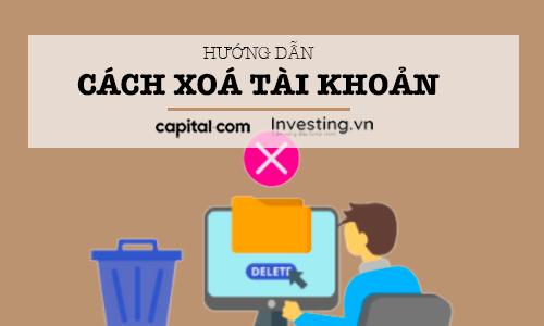 Xoá tài khoản Capital.com