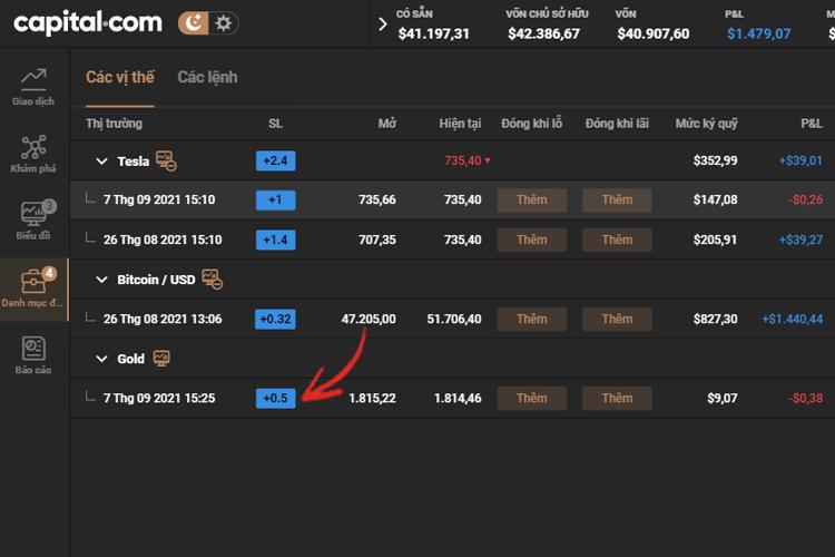 Hướng dẫn đóng một phần giao dịch trên Capital.com